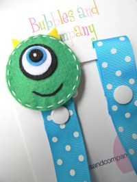 Pacifier holder pacifier clip monster pacifier clip monster