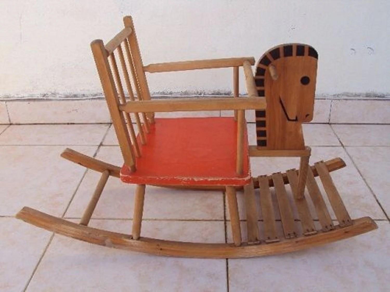 horseshoe rocking chair banana rocker horse wooden red weddings