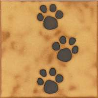 Dog Cat animal paw print tile installation hot by