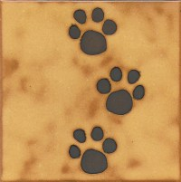 Dog Cat animal paw print tile installation hot by ...