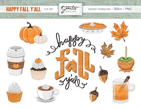 happy fall ' clip art