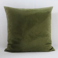 Olive Green Sage Suede Pillow Cover Decorative Throw Accent