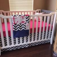 Nautical Crib Bedding Navy Hot Pink Anchor by ...