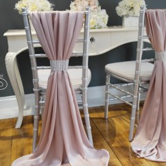 Blush Chair Sashes Versalite Folding Arm Wedding Cover Sash Silky Satin Pink Mink