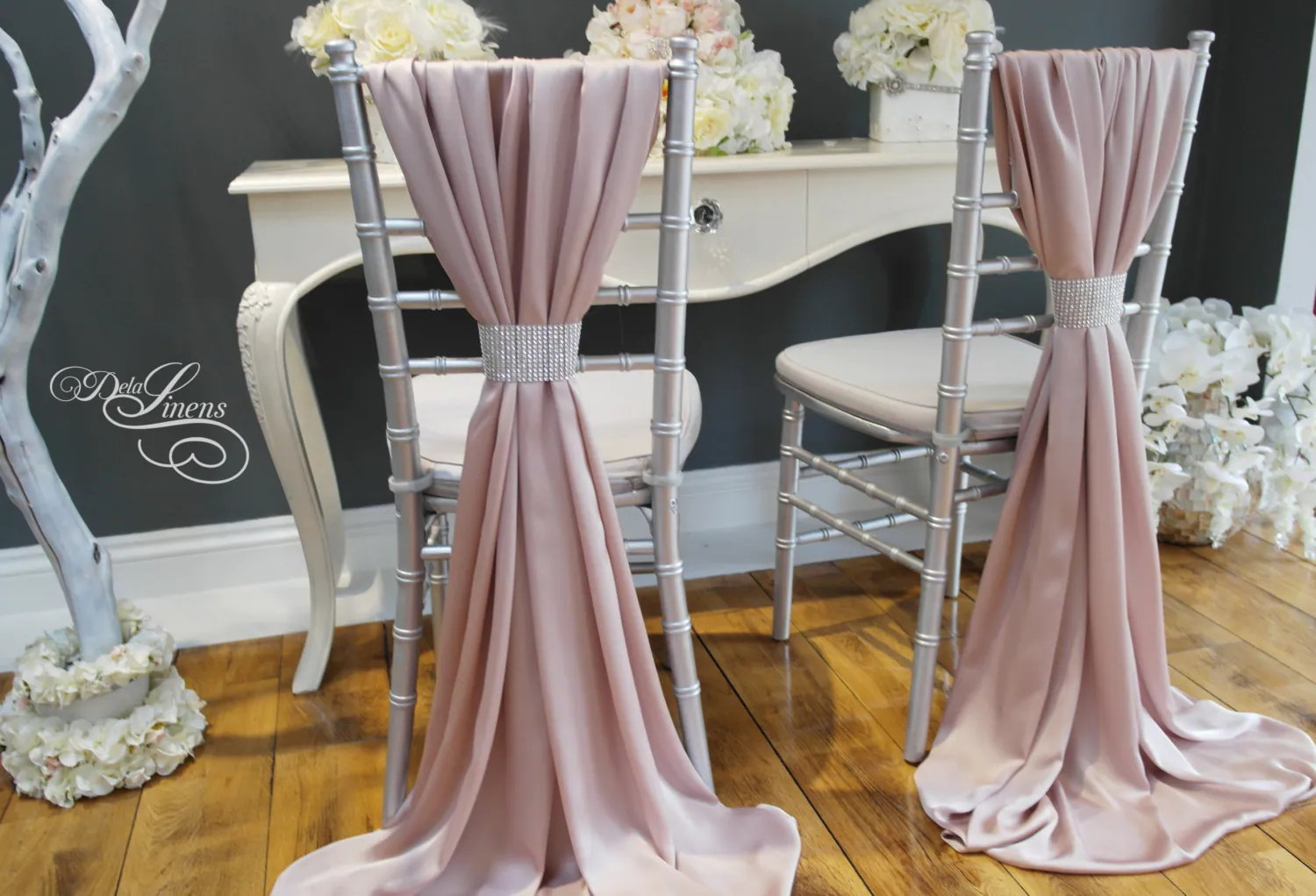 Chair Covers Wedding Wedding Chair Cover Sash Silky Satin Blush Pink Mink