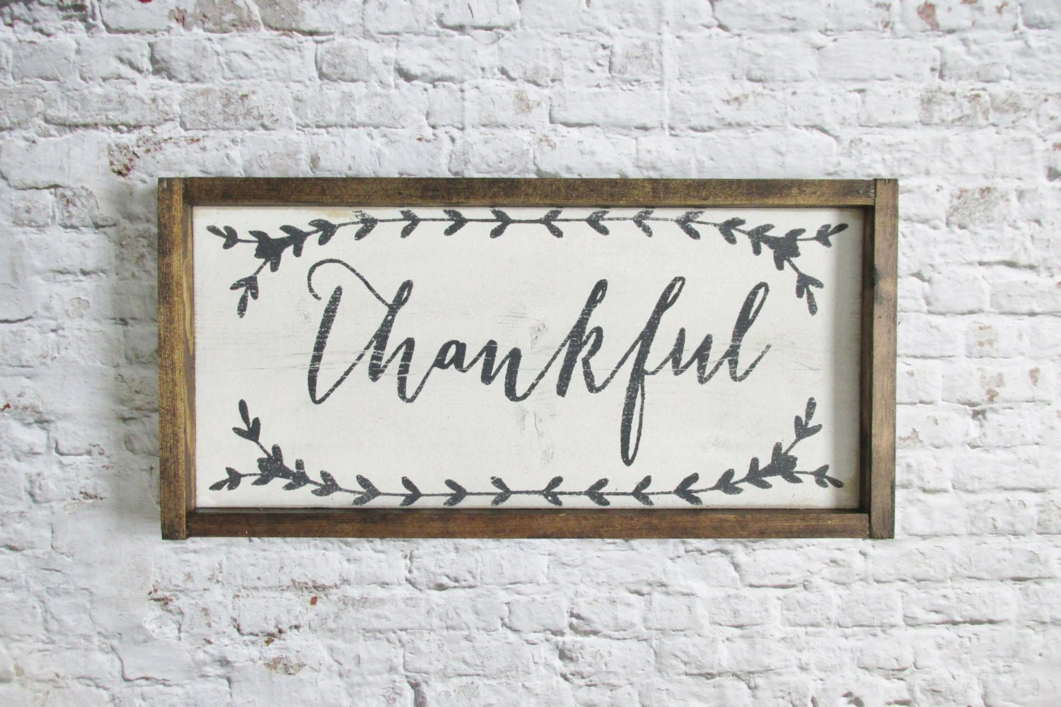 Thankful Wood Sign Rustic Signs Wooden Signs Farmhouse