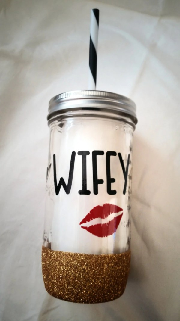 Mason Jar Tumbler Bride 24 Oz