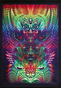 Items similar to Trippy wall art 'AlphaBetamine'. Trippy ...