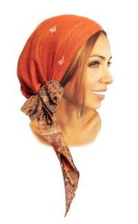 Ethnic head scarf hippie boho chic artisan snood by ...