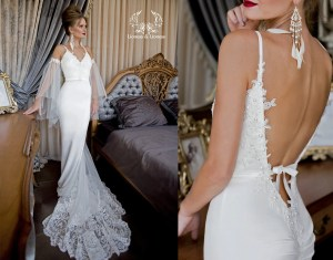 Unique Lace Wedding Dress Related Items Etsy