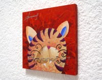Funny Cat Paintings Nursery Decor Wall Art Kids Room by