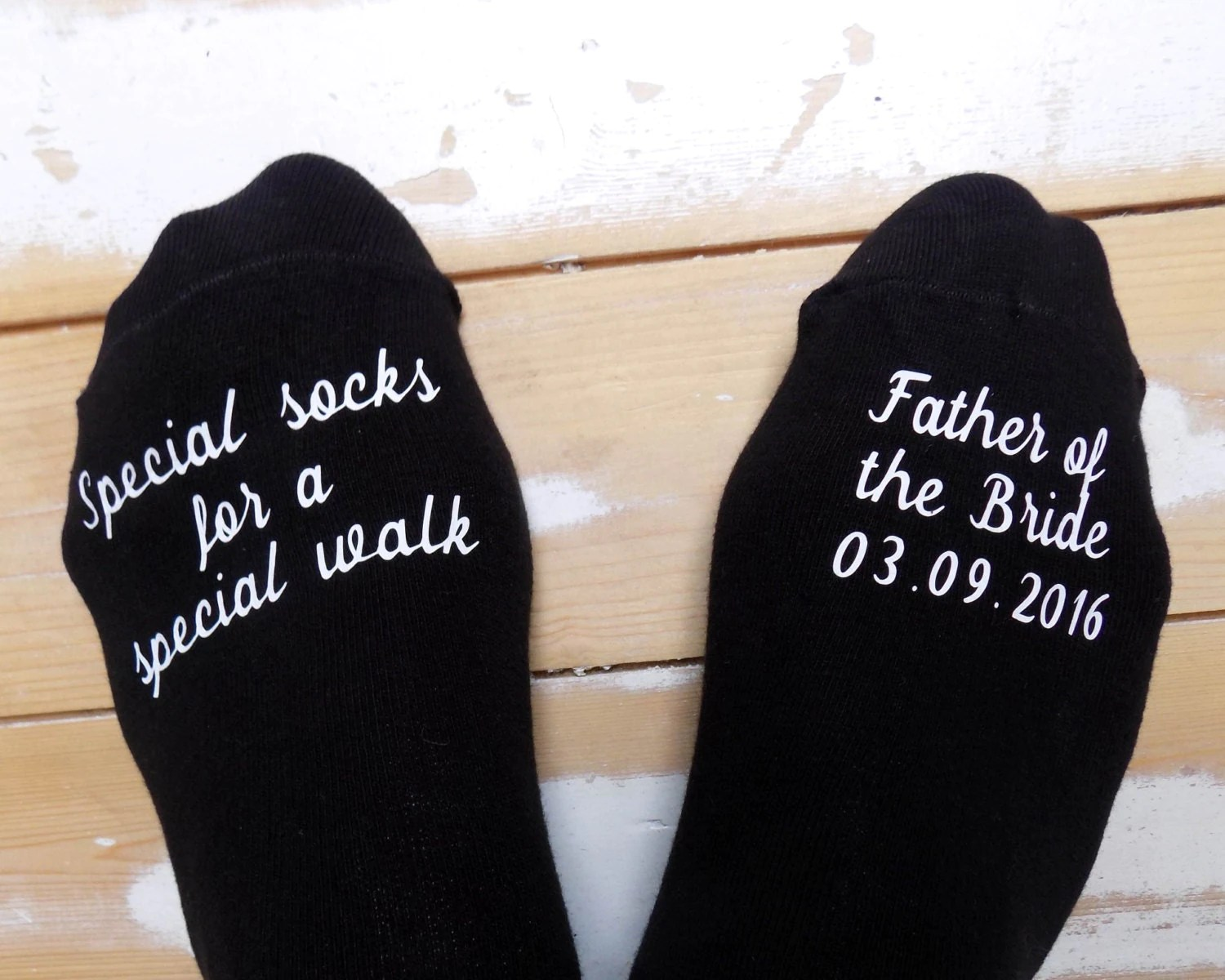 Personalised Wedding Socks Father of the Bride Special
