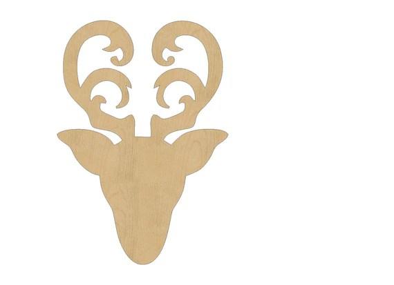 Items similar to Reindeer Head Cutout Shape Laser Cut