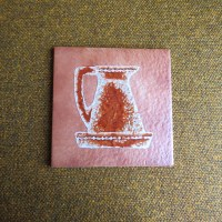 Semigres tile with pitcher on it trivet hotplate 6 x