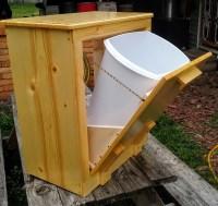 trash can holder wooden handmade trash holder 12 gallon