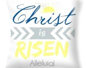 Christ is Risen Easter pillow