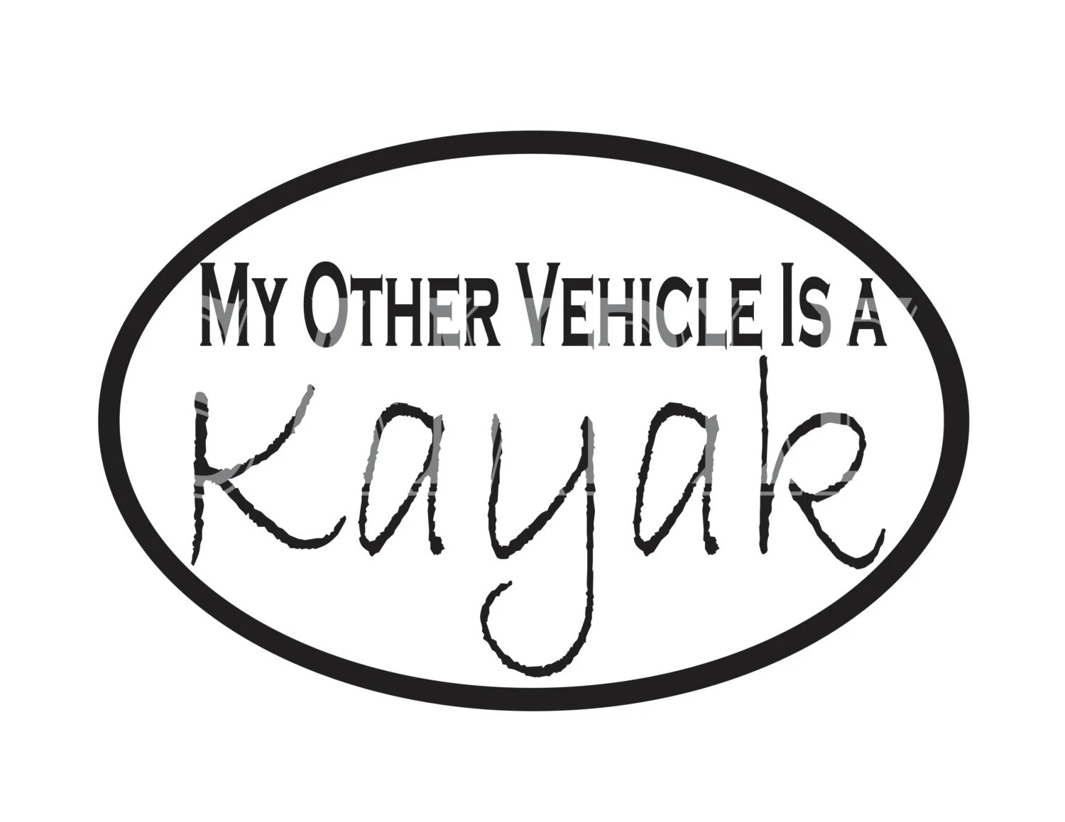 Kayak SVG Image File for Vinyl Cut Out Die Cutter My Other