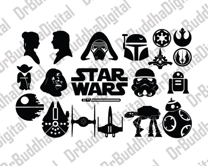 Sale Star Wars SVG Collection Star Wars DXF Star Wars