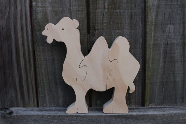 Large Camel Puzzle. Wooden Animal