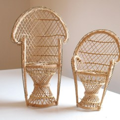 Chair Planter Stand Ikea Replacement Covers Vintage Mini Peacock Plant Woven Rattan Fan