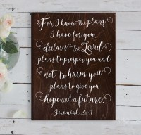Jeremiah 29 11 Wall Art For I know the plans by ElegantSigns