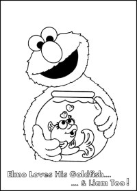 Mini Elmo Coloring Books   Coloring Pages