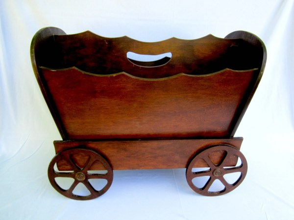 Wood Magazine Rack Conestoga Wagon Shaped Goshenpickers