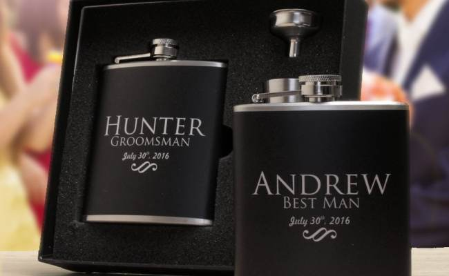 Custom Gifts Groomsmen Gifts Set Of 9 Personalized Flasks