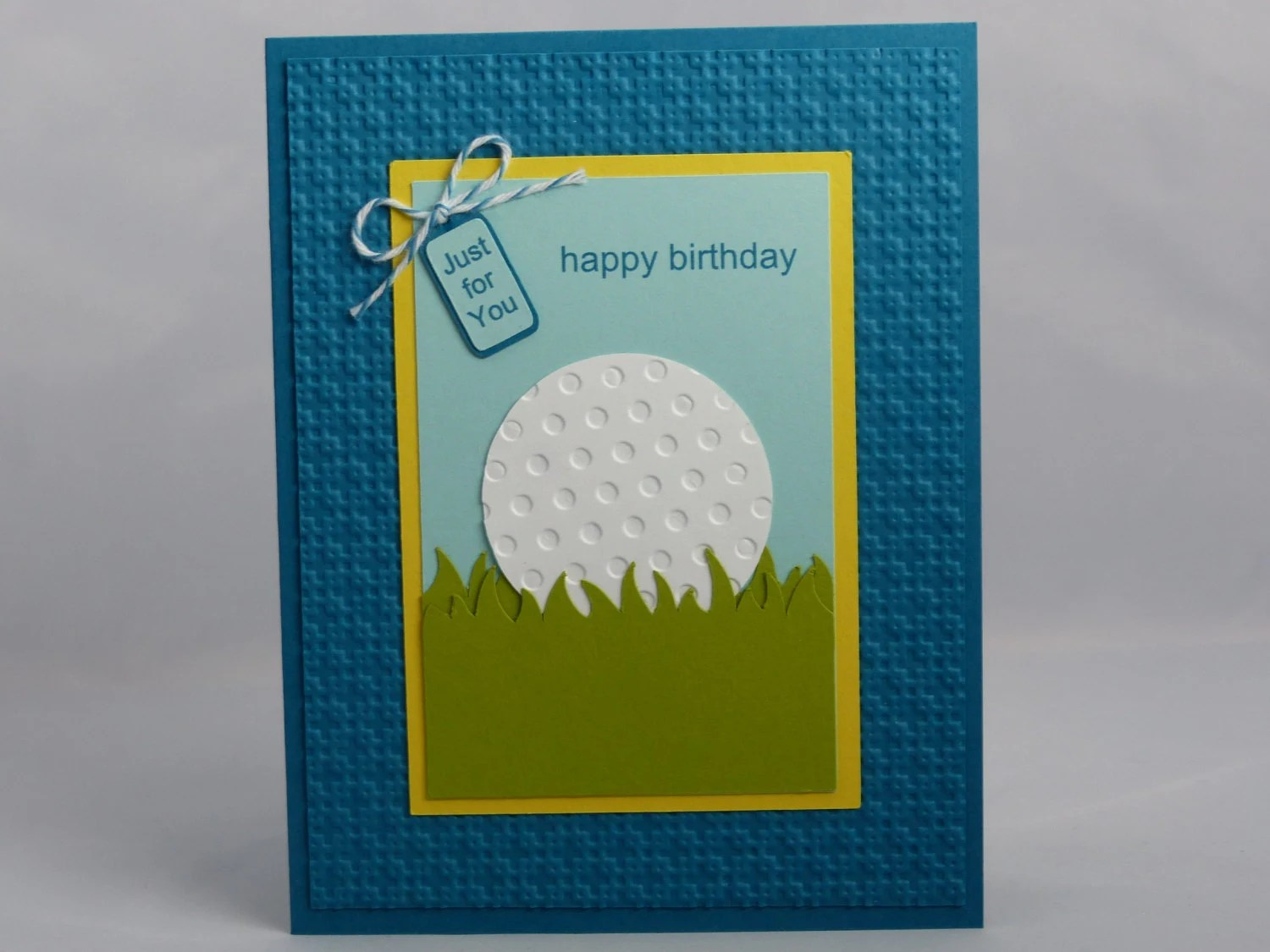 Stampin Up Handmade Greeting Card Happy Birthday Card Golf