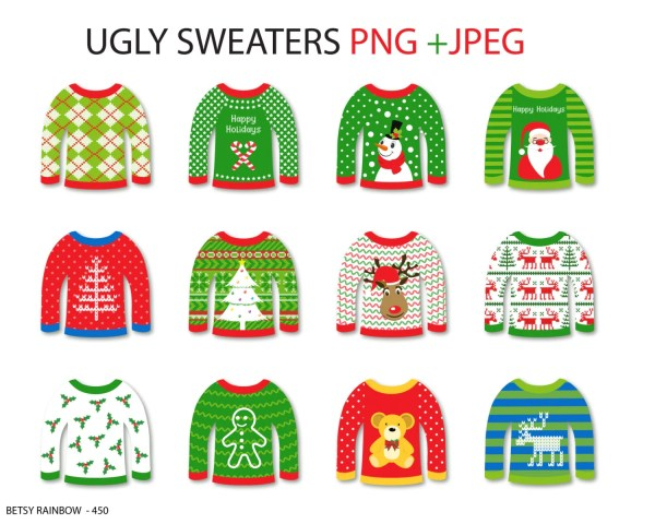 ugly sweater cliparts christmas
