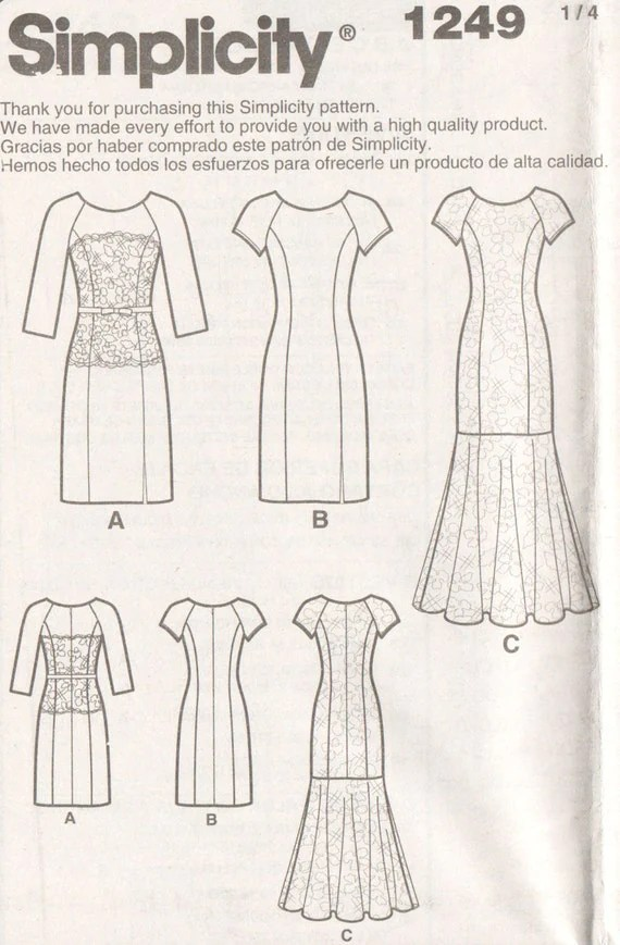Prom Dress Pattern Lace Overlay Formal Dress Pattern