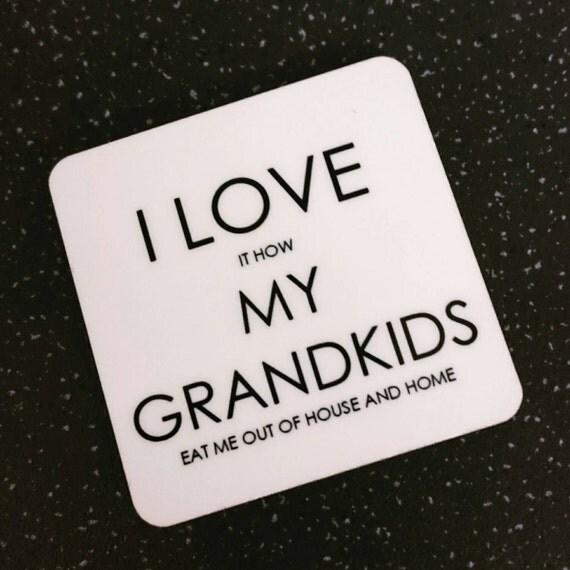 Download I love my grandkids magnet Grandparents gift Grandparent