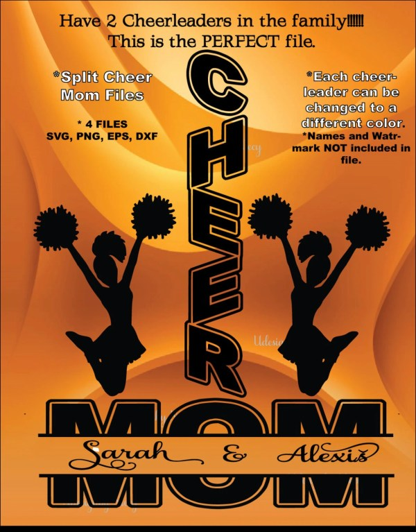 Cheer Mom 2-cutting File.svg Dxf Eps.instant