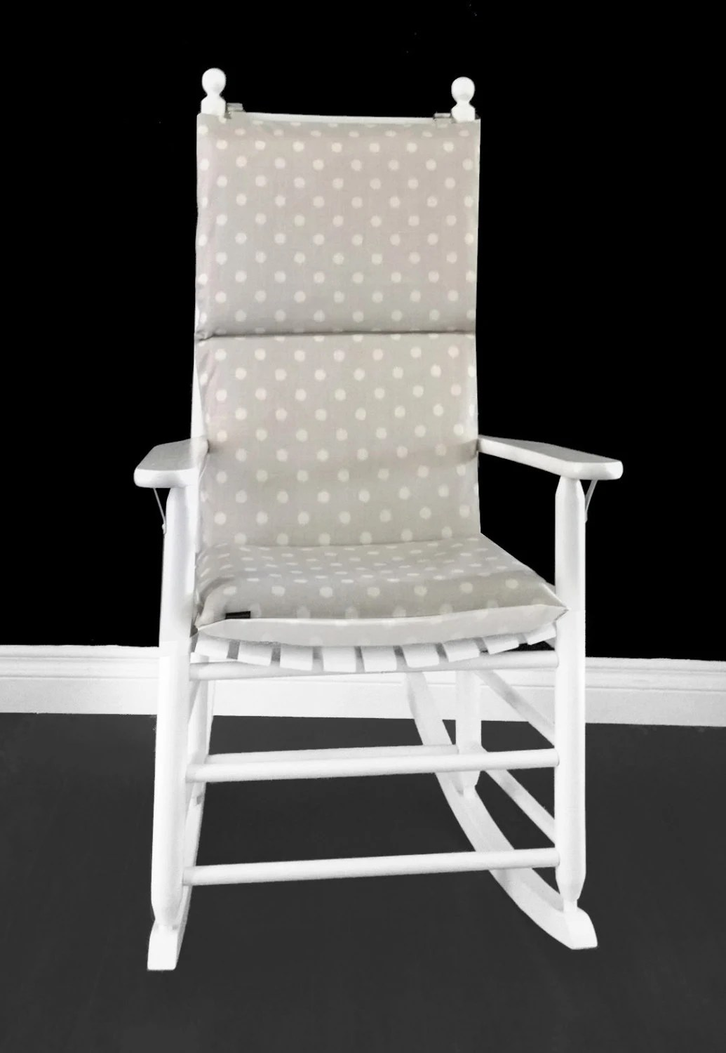 polka dot rocking chair cushions wheat back chairs ikat cushion custom size