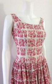 Crisp Cherry Print 1950's Dress