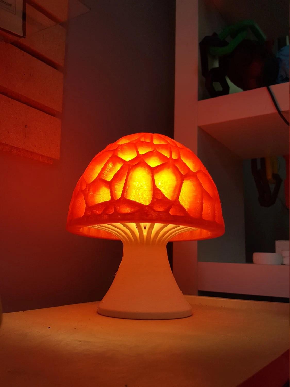 Mushroom Lamp 3D Printed Hippy Lava Table Lamp