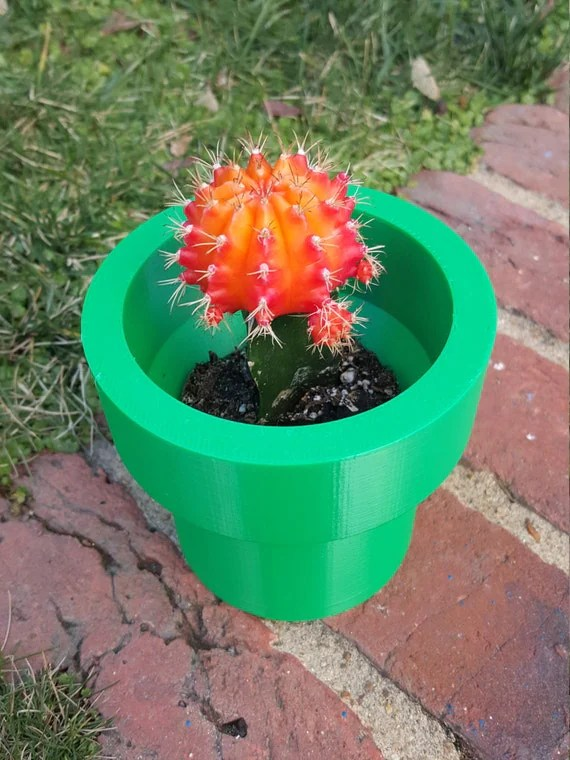 Garden Nerd Mario Warp Pipe Planter Pot Super Mario Tube DIY 3D Printed
