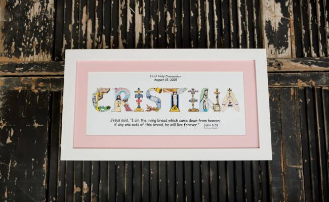 First Communion Gifts For Girls Personalized Christian Name