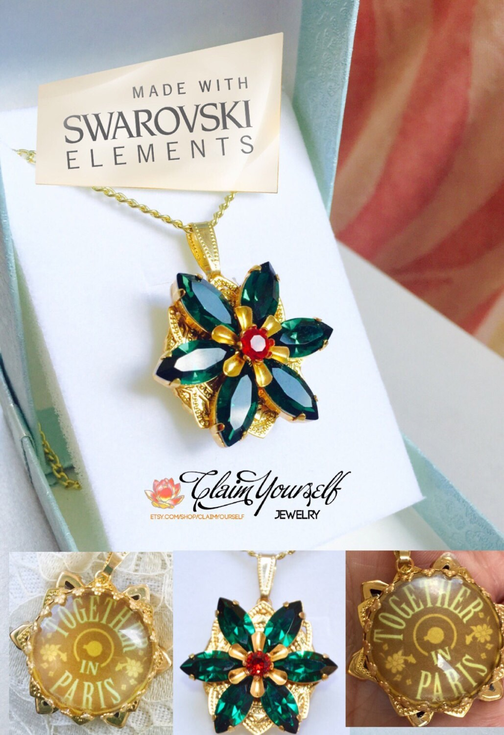 Anastasia Together in Paris Necklace with by ClaimYourself