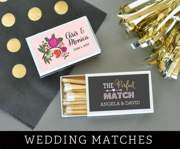 Wedding Matches Personalized Match Box