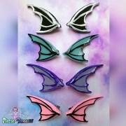 dragon bat wings hair clips fairy