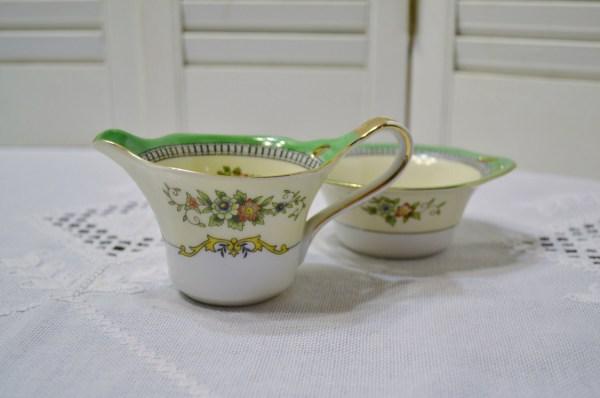 Vintage Noritake Roseara Sugar Bowl And Creamer Set Floral