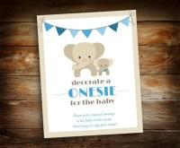 Decorate a Onesie Sign - Baby Shower Sign - Baby Shower ...