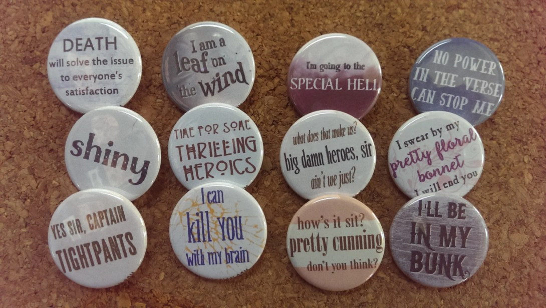 Firefly Serenity buttons ...