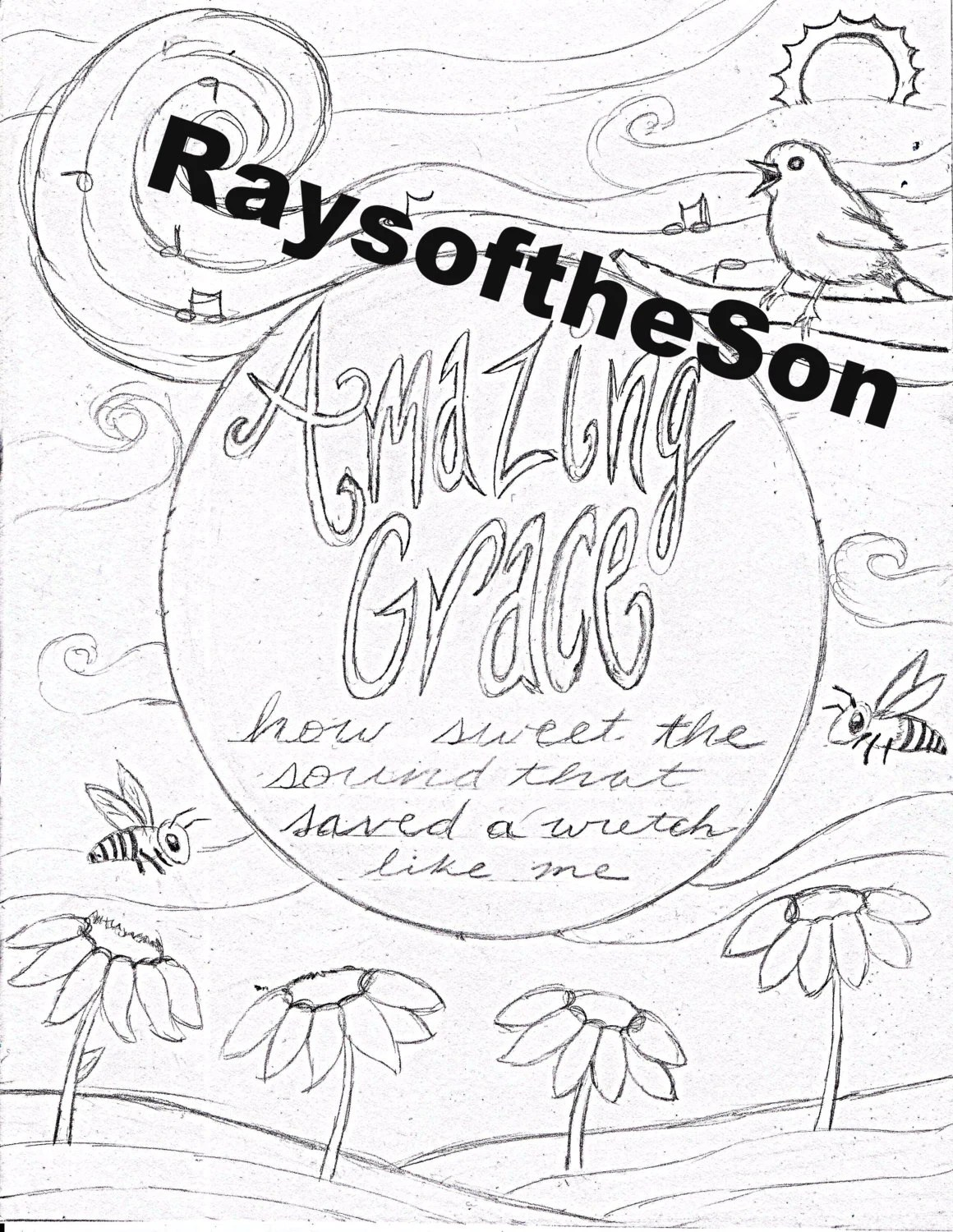 Amazing Grace Coloring Page by RaysoftheSon on Etsy