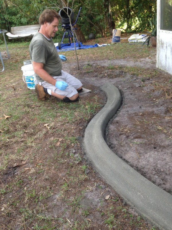 custom concrete curbing edging