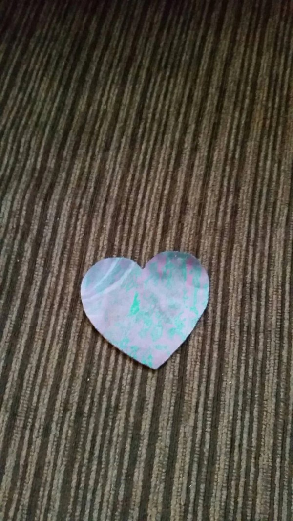 Pre Cut Stained Glass Heart. Iridescent Purple