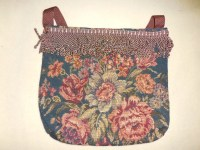 Items similar to Handmade Leather Purse with Flower Design ...