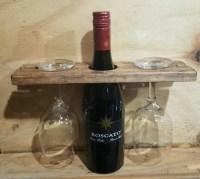 Decorative Wine Glass Holder Single Wine by PalletBrothersCo