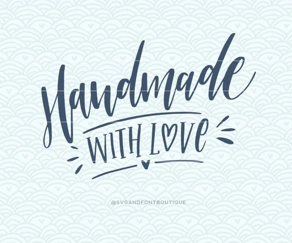 Download SVG Cuttable Vector Handmade with Love SVG Vector file